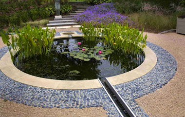 Round pond design & installation
