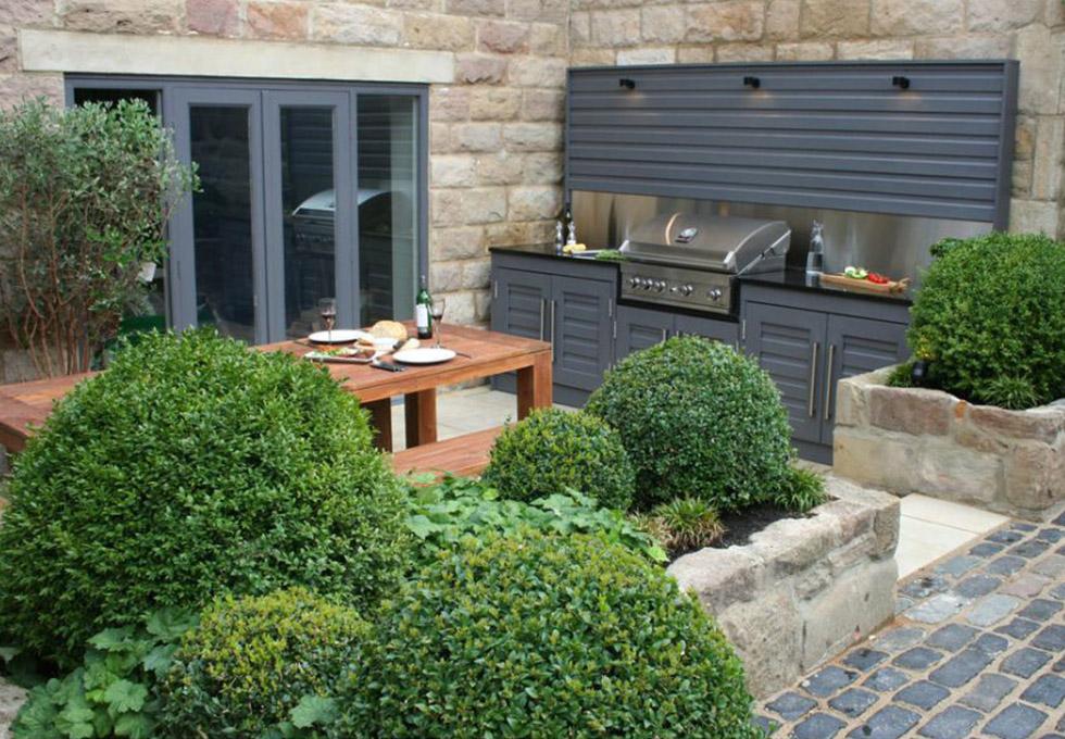 Cheshire modern outdoor kitchen