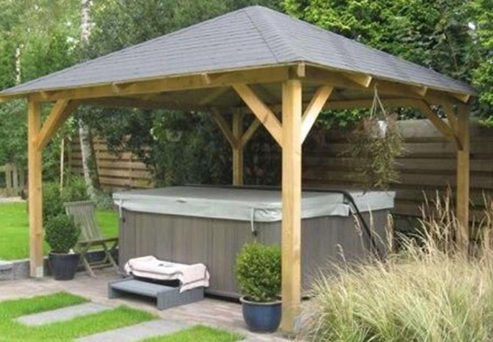 Hot tub oak frame