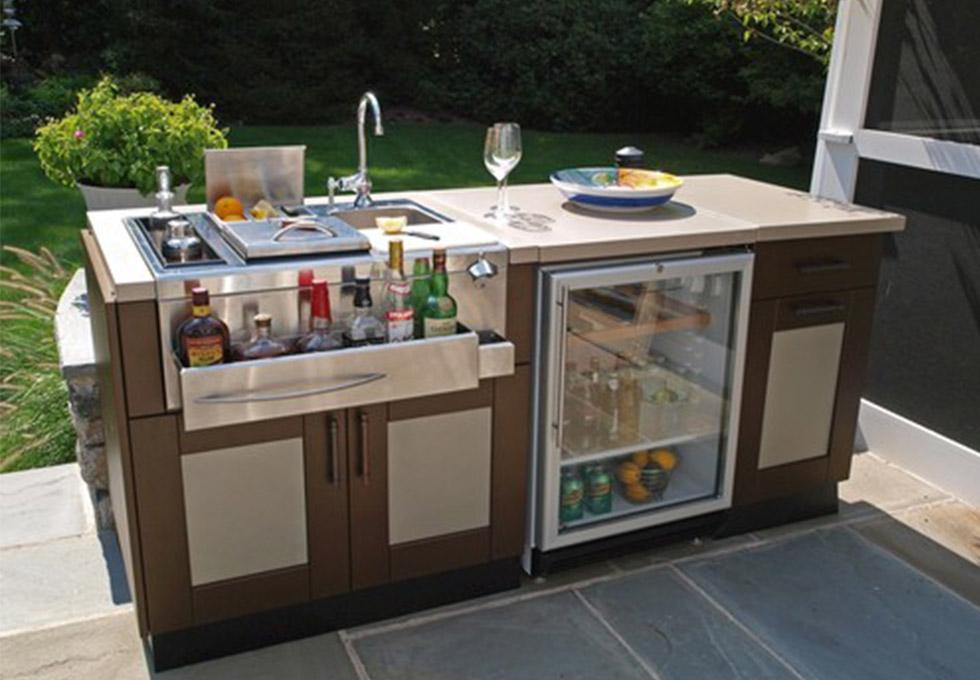 Outdoor kitchen unit