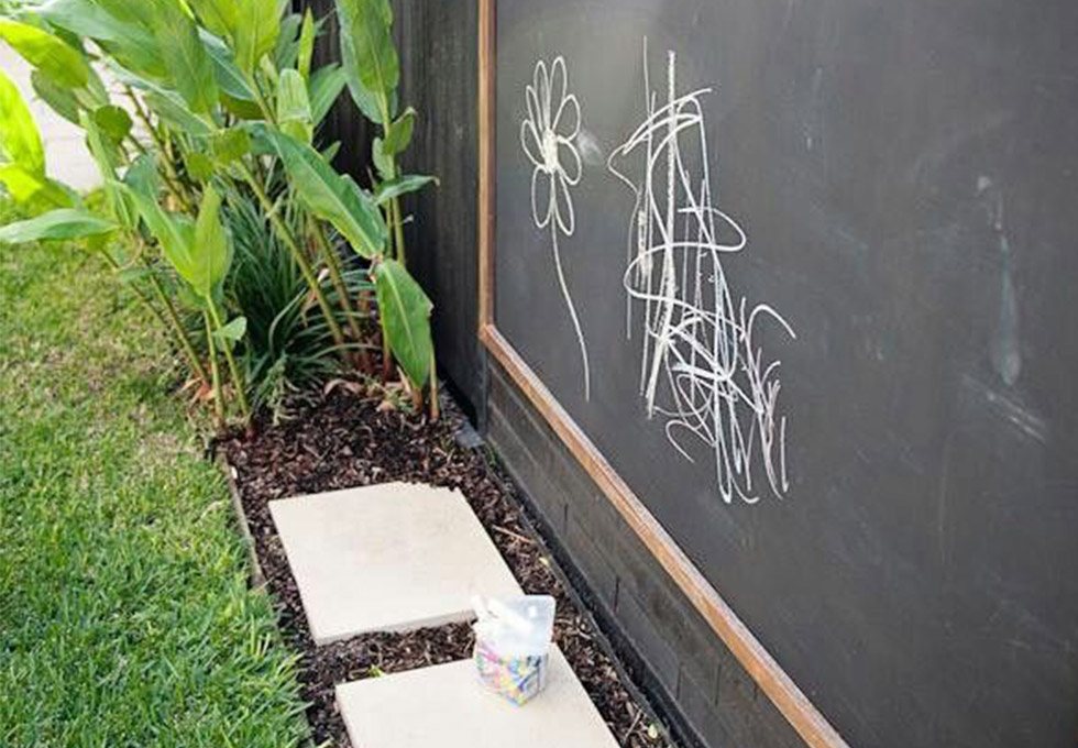 Children's outdoor blackboard