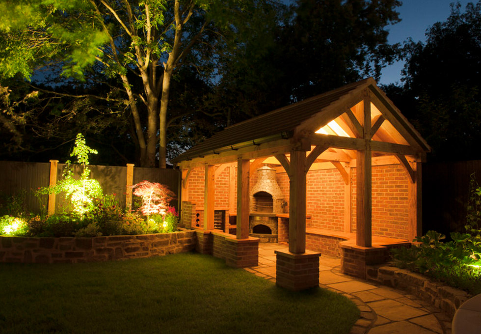 Outdoor room lighting