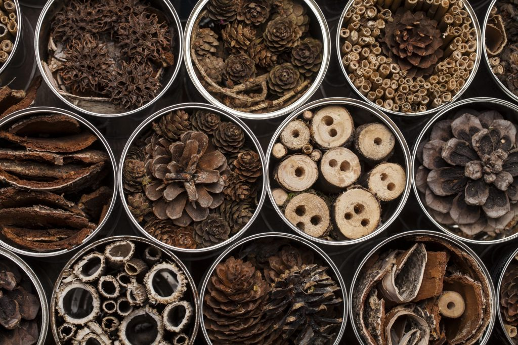 natural wooden materials for DIY bug hotel