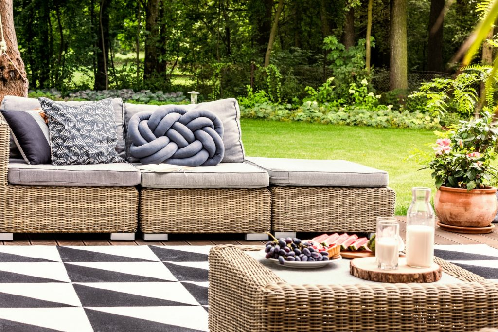 garden cushions and soft furnishings