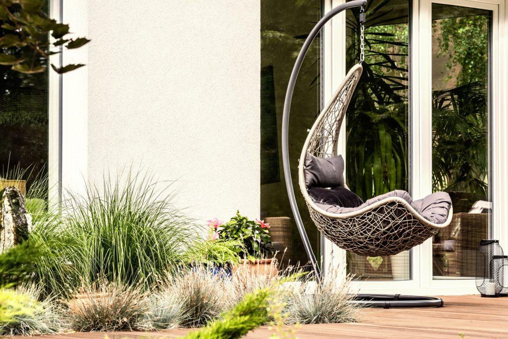 outdoor furniture in garden